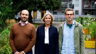 edChilds tre medgrundare. Från vänster: Sylvain Brochard, Sofia Zätterström och Love Fredholm