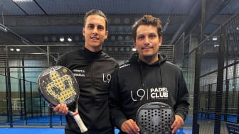Isak Redzic och Luis da Silva är padelinstruktörer på Väståkraskolans nya padelprofil.