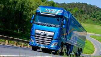 """Precis som 2019 fick DAF XF utmärkelsen """"Fleet Truck of the Year"""" vid Motor Transport Awards."""