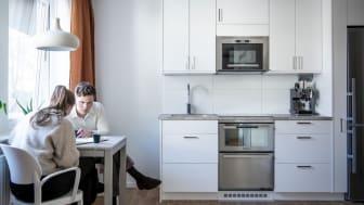 På Föreningsgatan 18 i Göteborg byggs elva kvadratsmarta och möblerade lägenheter i studiostil.