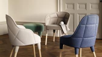 Elin och Lina, två nya stolar av Färg och Blanche för Gärsnäs