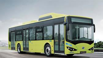 Om allt går enligt plan kommer elbussar som den här att trafikera Piteås gator från 1 juli 2020.