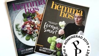 Hemma Hos har blivit nominerad till Publishingpriset 2019 i kategorin Medborgartidningar.