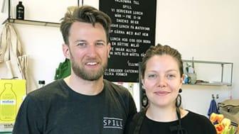 Erik Andersson och Ellinor Lindblom som tillsammans driver restaurang Spill i Dockan, Malmö.
