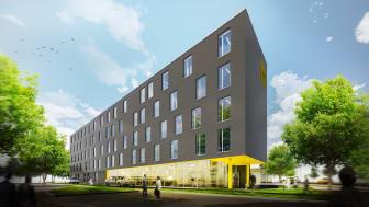 Zleep Hotel Hannover (rendering: Bünemann & Collegen)