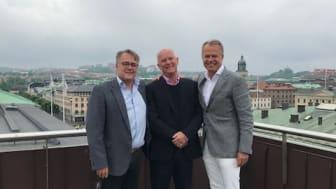 På bilden från vänster Göran Joneskär, Klövern, Nils Andreasson, Åby Travet och Peter Wanderydz, Artexis Easyfairs.
