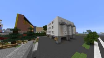 Minecraftmodell över Fisksätra