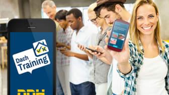 """Spielerisch lernen mit der App """"Dach Training"""" von DDH"""