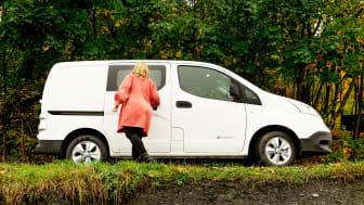 Tallet på nyregistrerte el-varebiler har skutt i været siden nyttår, og fra onsdag 19.mai justerer derfor Enova justerer derfor støttesatsene for kjøp av elvarebil.  Foto: Enova