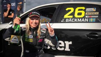 Jessica Bäckman 2:a i STCC på Anderstorp  Foto: Brink Motorsport (Fria rättigheter att använda bilden)