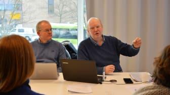 Fagrevisor Hans Even Helgerud og revisjonsleder Arne Skjelstad fra Kiwa.