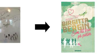 Ett bokomslag växer fram - Birgitta Bergins Som ett brev på posten