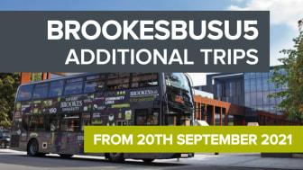 BROOKESbusU5 - additional trips