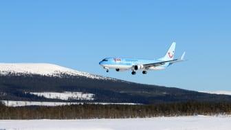 TUI landar med sportlovsfirande Göteborgare på Scandinavian Mountains Airport