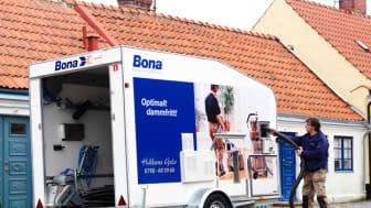 Bonas system för dammfri golvslipning - en lönsam investering: Nu slipper jag kunder som klagar