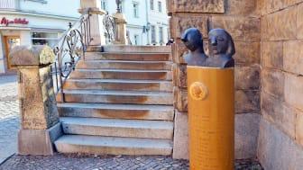 Eine der 13 Säulen auf dem Ringelnatzpfad in Wurzen - Foto: Nathalie Hempel