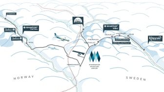 Översiktsbild Scandinavian Mountains Airport - Sälen Trysil