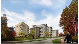 Detaljplanen för Skiljebo innebär bland annat 150 till 200 nya bostäder, en ny aktivitetspark för rekreation och idrott, samt nya gröna miljöer. Illustration: Tyréns