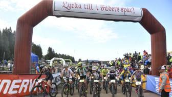 Starten i årets upplaga av Cykelvasan 90.