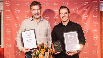 Fredrik Koffner, medgrundare Cuviva och Hannes Larsson Head of Design, Cuviva. Foto: Géza Ribberström