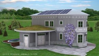 """Första solvärmeprojketet i hamn - Thermotech blir helhetsleverantör till lågenergihuset """"Villa Äntligen"""""""