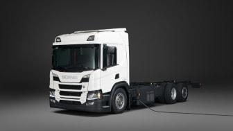 Der neue Plug-in-Hybrid von Scania hat eine Elektro-Reichweite von bis zu 60 Kilometer.