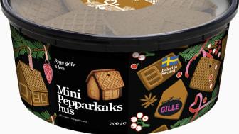 Gille Mini Pepparkakshus är bakade efter vårt bäst-i-test recept med raps-/shea-/kokosolja och smakar fantastiskt gott.