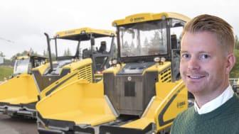 Tobias Rostedt, svensk produktchef för Bomags vägbyggnadsmaskiner. (Foto: Mats Thorner)
