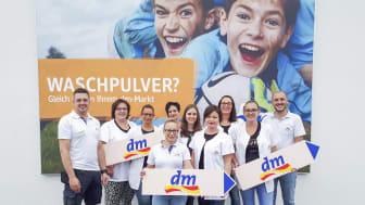 Das Team vom dm-Markt Löffingen freut sich auf die Eröffnung am 8. August