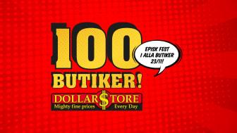 DollarStore blir 100 butiker