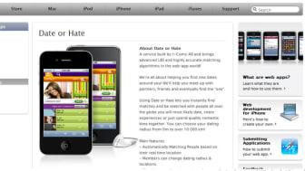 Date or Hate nu godkänd av Apples web app store