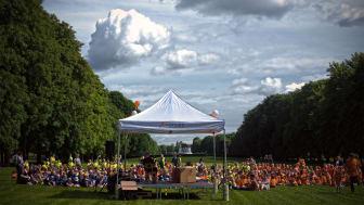 22 Kanvas-barnehager på kulturfestival i Frognerparken - i deilig sommervær.