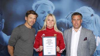 Jennie Axelsson, Stenstorps IF. Här tillsammans med Jesper Blomqvist och Mikael Tykesson