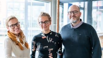 Agency Manager Linda Woxneborn together with Content Strategist Sanna Persson and Project Manager Claes Bergerlind.