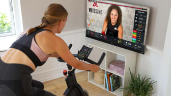 Motosumo is a live, interactive platform for at-home cycling classes that works with any stationary bike (Motosumo PR Photo).