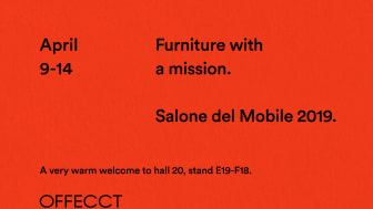 New releases of original design. Furniture with a mission.