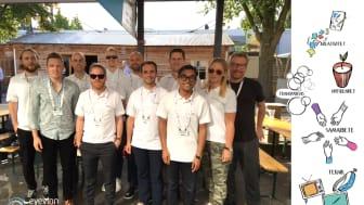 Från vänster: Simon, Daniel, Fredrik, Björn, Lucas, Alexander, Thomas, Magnus, Jonas, Isabelle och Johan (saknas på bild Marilia)