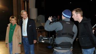 Uschi Glas und Dieter Hermann beim Dreh zum neuen TV- Spot der Felix Burda Stiftung