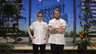 Malin Haak och David Knutsson är i final i Dessertmästarna 2017. Foto: Kanal 5