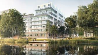 Riksbyggens Brf Djurgårdsvyn slutbesiktat och certifieras med Miljöbyggnad Guld