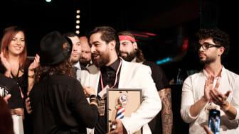 Amin Iranmanesh utsedd till Årets barberare 2018! (Foto: Carl D Marshall, Barber Supplier Nordic)