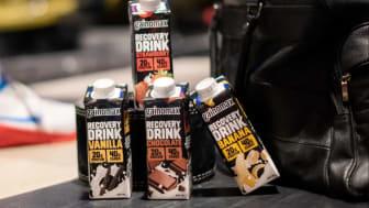 Gainomax erbjuder produkter för träningsåterhämtning och funktionella mellanmål som mjölkbaserade sportdrycker och proteinbars