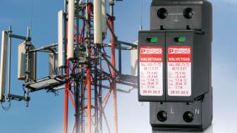UL-godkendt overspændingsbeskyttelse til mobiltelefonsystemer