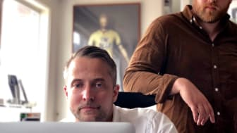 Stefan Sångberg och Thomas Jonasson från spelstudion Sideline Labs.