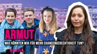 Mara Bertling und Jugendbotschafter Maksimilijan sprechen über Chancengerechtigkeit bei ganz.KONKRET
