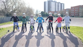 BMX riders in London prepare to race