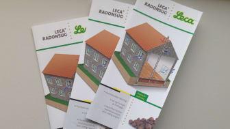 Folder om Leca® Radonsug, der kan findes hos byggevareforhandlerne