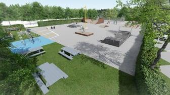 Nu bliver Skatepark Gertrud til Aktivitetsoasen Gertrud