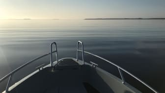 Vy över den nya fritidsbåtfarleden i Luleå. Foto: Anders Dahl