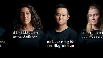 På webbplatsen berättar Bianca Kronlöf, Ulf Mellström, Aida Badeli, Patrik Lundberg och Irena Pozar om sina erfarenheter av hot och hat.